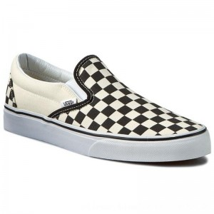 Vans Turnschuhe Classic Slip-On VN-0EYEBWW Blk&Whtchckerboard/Wht [Outlet]