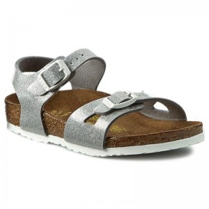 Birkenstock Sandalen Rio Kinder 0831783 Magic Galaxy Silver [Outlet]