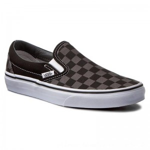 Vans Turnschuhe Classic Slip-On VN000EYEBPJ Black/Pewter Checkerboard [Outlet]