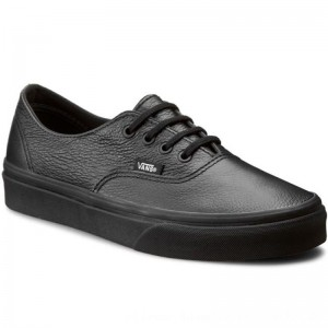 Vans Turnschuhe Authentic Decon VN00018CGKM (Premium Leather) Black/Black [Outlet]