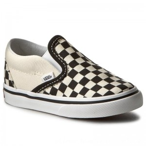 Vans Turnschuhe Classic Slip-On VN000EX8BWW Blk&WhtCheckerboard/Wht [Outlet]