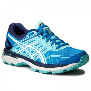 Asics Schuhe GT-2000 5 T757N Diva Blue/White/Aqua Splash 4301 [Outlet]