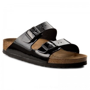 Birkenstock Pantoletten Arizona 1005292 Black Patent [Outlet]