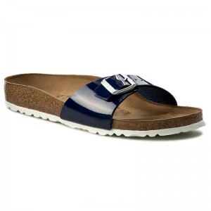 Birkenstock Pantoletten Madrid 1005312 Dress Blue [Outlet]