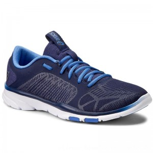 Asics Schuhe Gel-Fit Tempo 3 S752N Indigo Blue/Silver/Regatta Blue 4993 [Outlet]