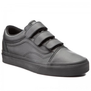 Vans Halbschuhe Old Skool V VA3D29OOZ (Mono Leather) Black [Outlet]