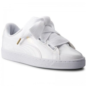 [BLACK FRIDAY] Puma Sneakers Basket Heart Patent 363073 02 White/Puma White