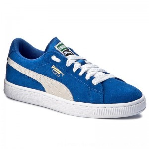 Puma Sneakers Suede Jr 355110 02 Snorkel Blue/White [Outlet]