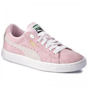 Puma Sneakers Suede Jr 355110 30 Pink Lady/White/Team Gold [Outlet]