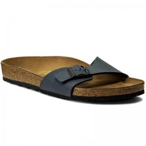 Birkenstock Pantoletten Madrid 040121 Navy [Outlet]