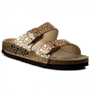 Birkenstock Pantoletten Arizona Bs 1006685 Metallic Stones Copper [Outlet]