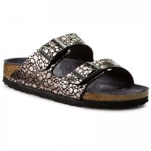 Birkenstock Pantoletten Arizona Bs 1008872 Metallic Stones Black [Outlet]