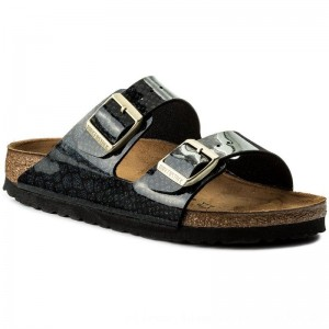 Birkenstock Pantoletten Arizona Bs 1009125 Magic Snake Black [Outlet]