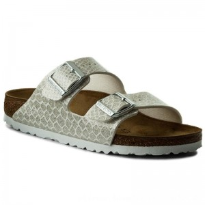 Birkenstock Pantoletten Arizona Bs 1009127 Magic Snake White [Outlet]