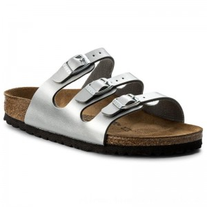 [BLACK FRIDAY] Birkenstock Pantoletten Florida Bs 0954383 Silver