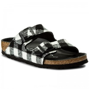 Birkenstock Pantoletten Arizona 1001217 Check Black/White [Outlet]