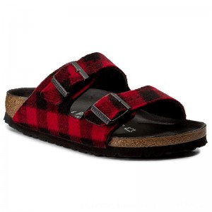 [BLACK FRIDAY] Birkenstock Pantoletten Arizona 1001210 Check Red/Black
