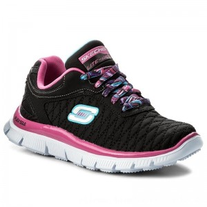 Skechers Sneakers Eye Catcher 81844L/BKHP Black/Hot Pink [Outlet]