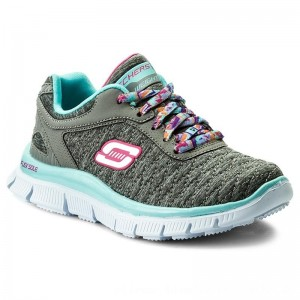 Skechers Sneakers Eye Catcher 81844L/GYAQ Gray/Aqua [Outlet]