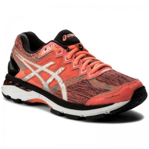 Asics Schuhe GT-2000 4 Lite-Show Plasma Guard T6F9N Flash Coral/Silver/Black 0693 [Outlet]