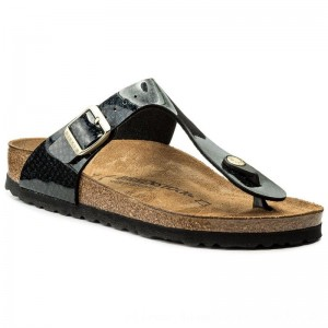 Birkenstock Zehentrenner Gizeh Bs 1009114 Magic Snake Black [Outlet]
