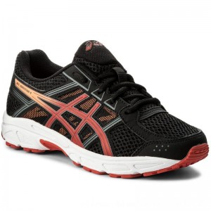 Asics Schuhe Gel-Contend 4 Gs C707N Black/Fiery Red/Shocking Orange 9023 [Outlet]