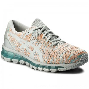 Asics Schuhe Gel-Quantum 360 Knit 2 T890N Glacier Grey/Orange Pop/Aruba Blue 9609