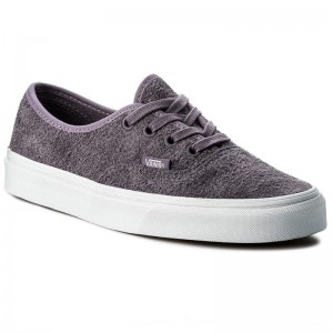 Vans Turnschuhe Authentic VN0A38EMQ8S (Hairy Suede) Purple Sage [Outlet]