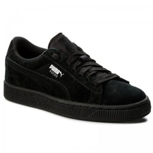 Puma Sneakers Suede Jr 355110 52 Black/Puma Silver [Outlet]