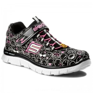 Skechers Halbschuhe Happy Prance 81809L/BKWP Black/White/Pink [Outlet]