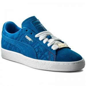 Puma Sneakers Suede Classic Paris 366298 01 Electric Blue Lemonade [Outlet]