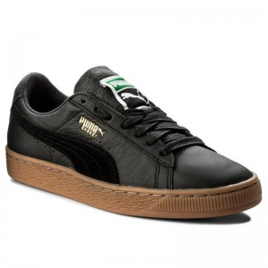 Puma Sneakers Basket Classic Gum Deluxe 365366 02 Black [Outlet]