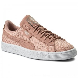 Puma Sneakers Basket Satin Ep 365915 01 Peach Beige/Puma White [Outlet]