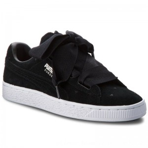 Puma Sneakers Suede Heart Valentine Jr 365135 02 Black/Puma Black [Outlet]