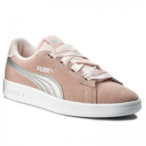 Puma Sneakers Smash V2 Ribbon Jr 366003 02 Pearl/Puma Silver [Outlet]