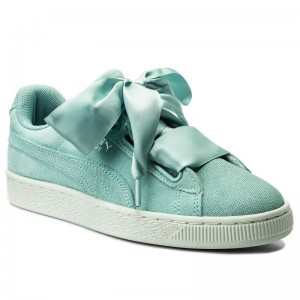 Puma Sneakers Suede Heart Pebble Wn's 365210 03 Aquifer/Blue Flower [Outlet]