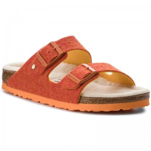 Birkenstock Hausschuhe Arizona Rivet 1012428 Doubleface Orange [Outlet]