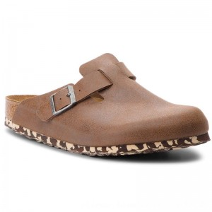 [BLACK FRIDAY] Birkenstock Pantoletten Boston Bs 1012260 Sandwashed Brown