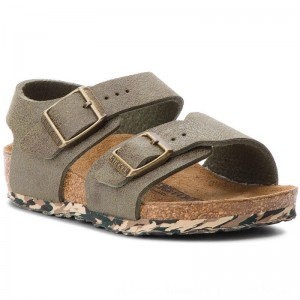 Birkenstock Sandalen New York Kids 1008278 Sandwashed Green [Outlet]