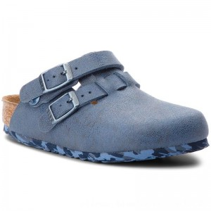 Birkenstock Pantoletten Arizona Kids 1008341 Sandwashed Blue [Outlet]