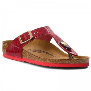 Birkenstock Zehentrenner Gizeh Kids Bs 1010448 Lace Red M [Outlet]
