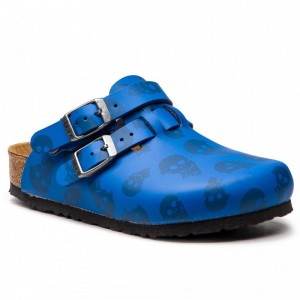 [BLACK FRIDAY] Birkenstock Pantoletten Kay Kids 1010465 M Mystic Skulls Royal Blue