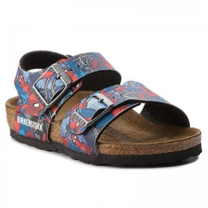 Birkenstock Sandalen New York Kids Bs 1004374 Spiderman Action Blue [Outlet]