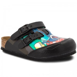 Birkenstock Pantoletten Kay Kids 1010487 Pop Mickey Black [Outlet]