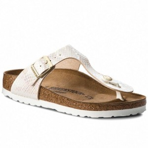 [BLACK FRIDAY] Birkenstock Zehentrenner Gizeh Bs 0847433 Shiny Snake Cream