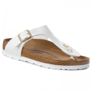 Birkenstock Zehentrenner Gizeh Bs 1005300 Patent White [Outlet]