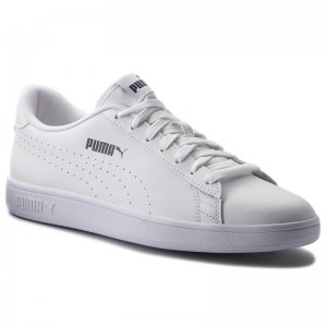 Puma Sneakers Smash V2 L Perf 365213 02 White/Puma White [Outlet]