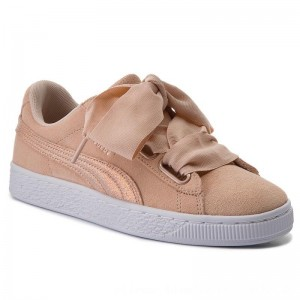 Puma Sneakers Suede Heart LunaLux Wn's 366114 02 Cream Tan [Outlet]