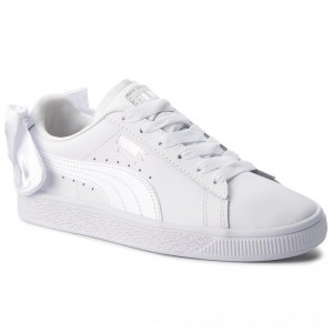 Puma Sneakers Basket Bow Jr 367321 01 White/Puma White [Outlet]