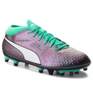 Puma Schuhe One 4 IL Syn FG 104932 01 Shift/Green/White/Black [Outlet]